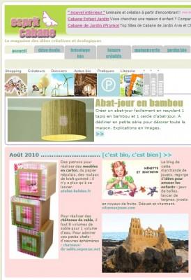 web l 39 atelier chez soi la une d 39 esprit cabane atelierchezsoi. Black Bedroom Furniture Sets. Home Design Ideas