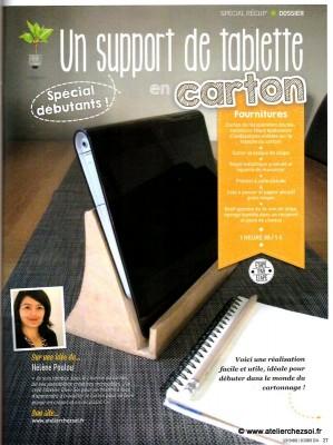 Presse notre tuto support de tablette dans le magazine - Fabriquer un support pour tablette ...
