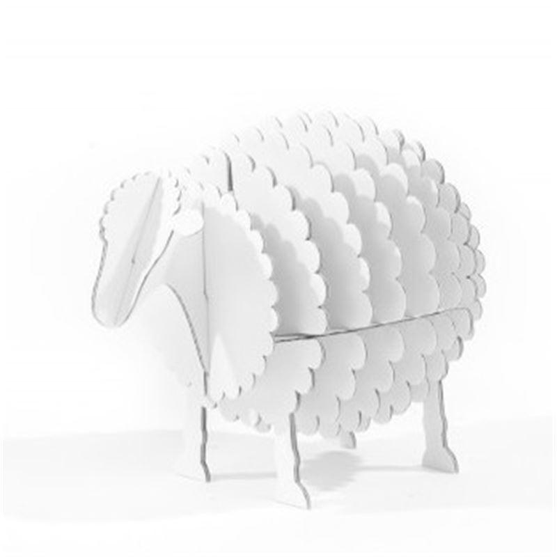 mouton en carton blanc taille s cocorikraft de l 39 atelier chez soi. Black Bedroom Furniture Sets. Home Design Ideas