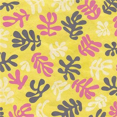 papier n palais algues jaunes 50x75 cm de l 39 atelier chez soi. Black Bedroom Furniture Sets. Home Design Ideas
