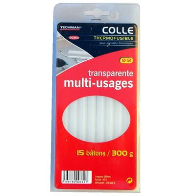 15 Bâtons colle thermofusible 300g Ø12mm 20cm