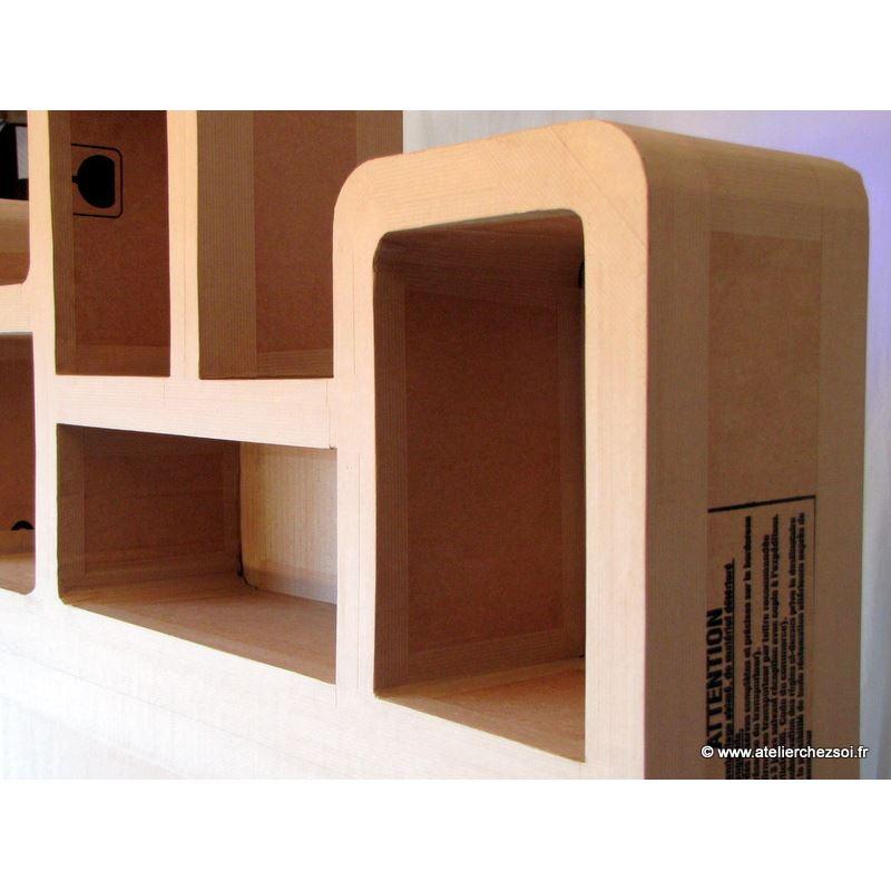 patron meuble en carton t te de lit haustin 2 personnes. Black Bedroom Furniture Sets. Home Design Ideas