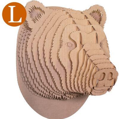 Troph e t te d 39 ours en carton brun grand de l 39 atelier chez soi - Trophee animaux carton ...