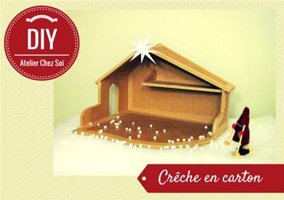 Fabrique Une Crèche De Noël En Carton Fiche Créative Diy