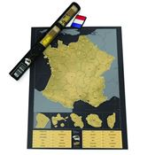 Carte de France à gratter - Scratch map version Luxe