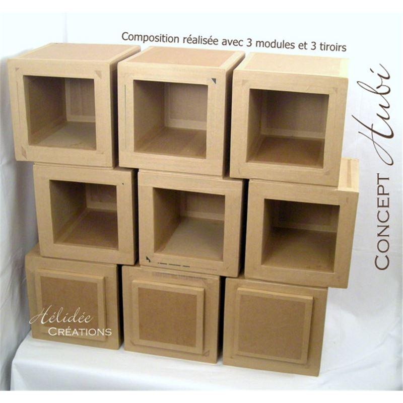 patron de meuble en carton module de rangement en carton hubi petit