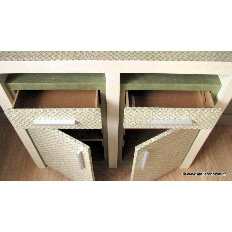 patron de meuble en carton buffet hoxane de l 39 atelier chez soi. Black Bedroom Furniture Sets. Home Design Ideas