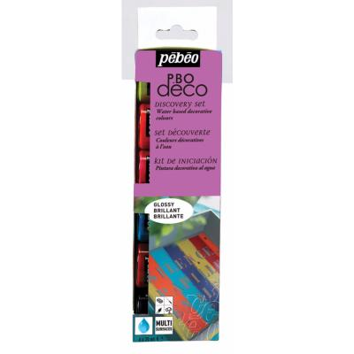 Set Peinture Décorative Brillante Multi-supports 6 x20 ml Pébéo Déco