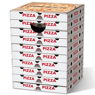 Tabouret en carton Pizzas Margarita Remember
