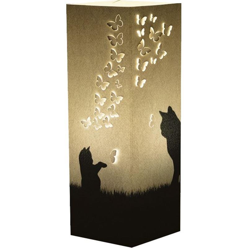 Lampe à poser Chats et Envolée de papillons WLamp de L Atelier Chez Soi 748fa8ce0a6a