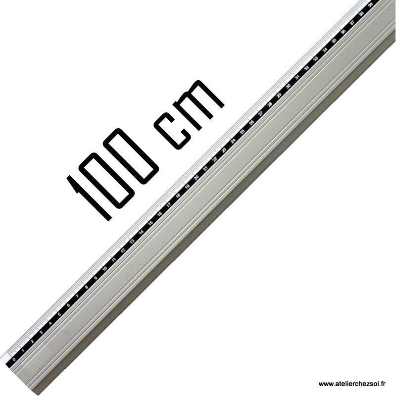R gle m tallique gradu e anti d rapante 100 cm de l 39 atelier chez soi - Regle pour mesurer ...
