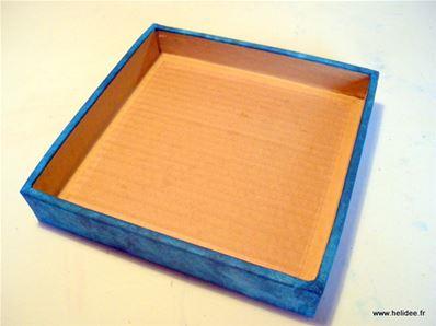 Bo te en carton couvercle diy fiche cr ative - Decoration boite carton ...