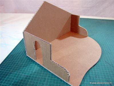 Fabrique une cr che de no l en carton fiche cr ative diy - Fabriquer un village de noel en carton ...