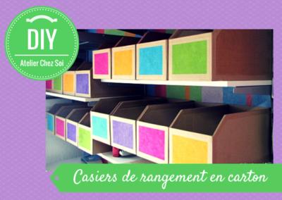 Tuto casiers de rangement en carton fiche cr ative diy - Casier rangement papier ...