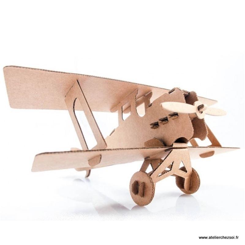 Avion Biplan Decoration Bois