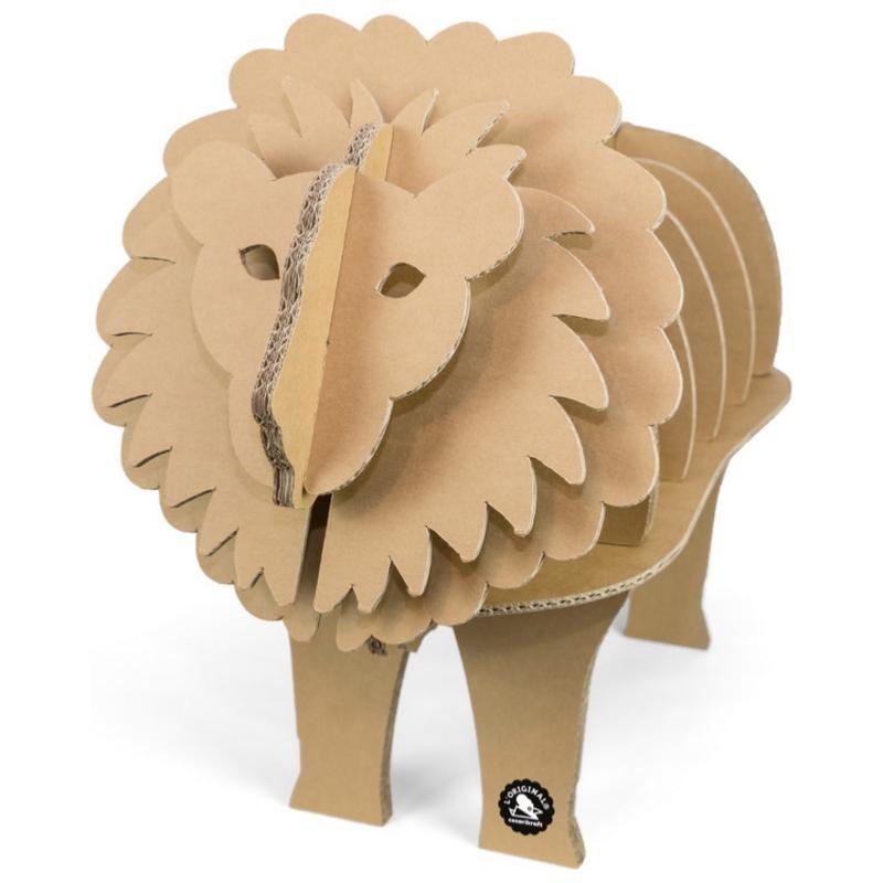 etag re lion en carton fabriquer taille m cocorikraft. Black Bedroom Furniture Sets. Home Design Ideas