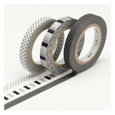 masking tape slim deco f set 3 rouleaux 6mm x 10m de l 39 atelier chez soi. Black Bedroom Furniture Sets. Home Design Ideas