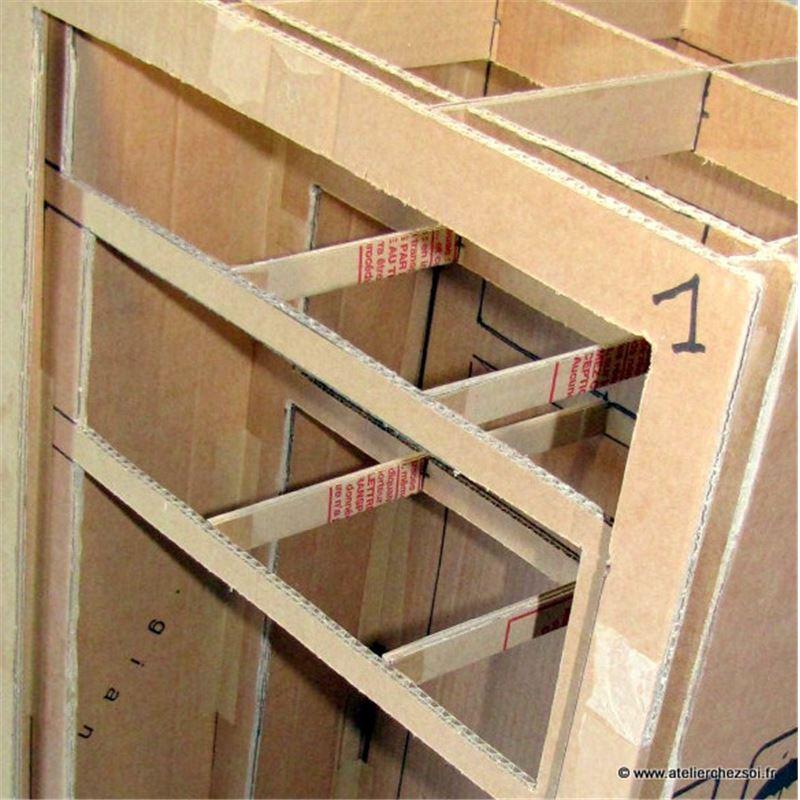 Patron de meuble en carton buffet hoxane de l 39 atelier chez soi - Patrons meubles en carton gratuit ...
