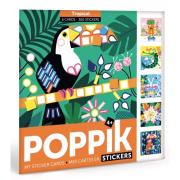 Mes cartes en Gommettes 6 cartes Tropical 300 Stickers 4 ans Poppik