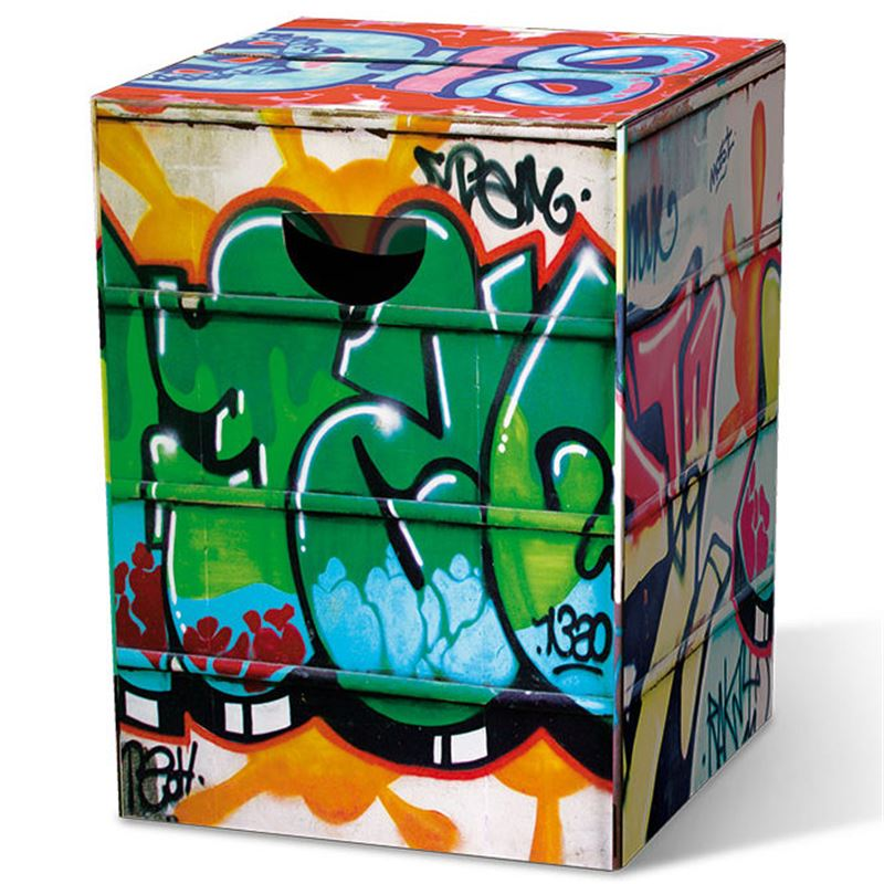 tabouret en carton graffiti remember meuble en kit. Black Bedroom Furniture Sets. Home Design Ideas