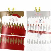 Boîte Cadeau Crackers de Noël 21x5.5cm A monter Lot de 4 assortis