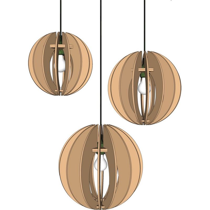patron luminaire en carton suspension boule lumi2 en 3. Black Bedroom Furniture Sets. Home Design Ideas