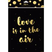 Affiche typographie Love is in the Air 24 x 30 cm Noir et Or