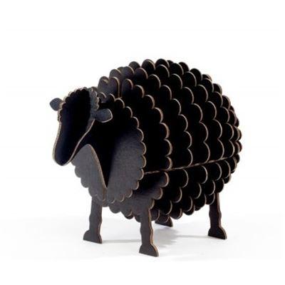 mouton en carton noir taille s cocorikraft de l 39 atelier chez soi. Black Bedroom Furniture Sets. Home Design Ideas