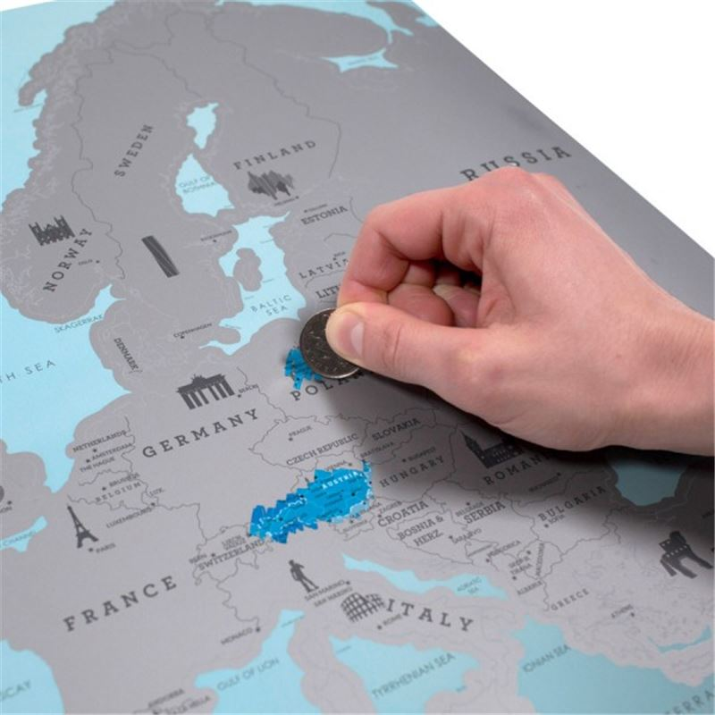 carte europe gratter