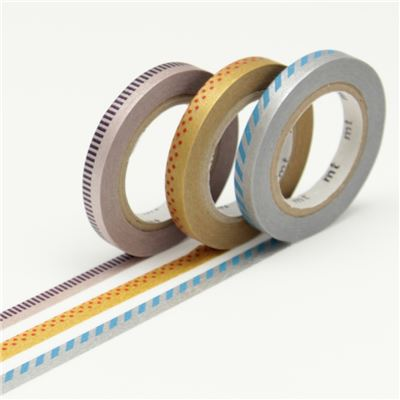Masking Tape Slim Deco C - Set 3 Rouleaux 6mm x 10m