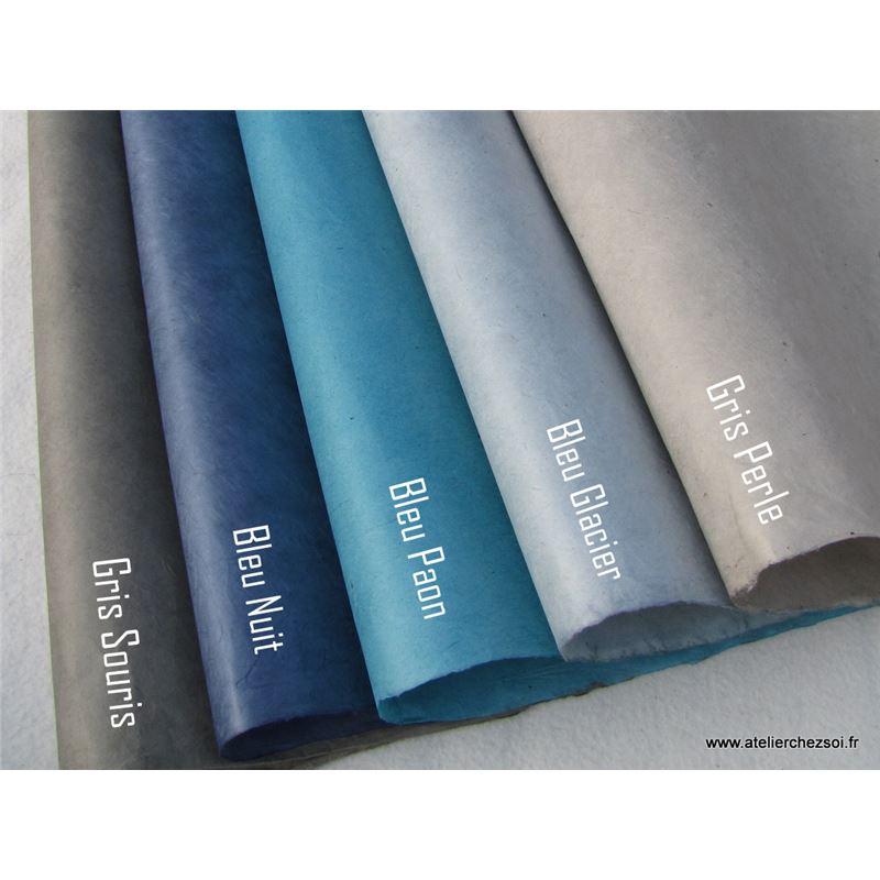 papier n palais uni couleur bleu nuit 50x75 cm de l 39 atelier chez soi. Black Bedroom Furniture Sets. Home Design Ideas