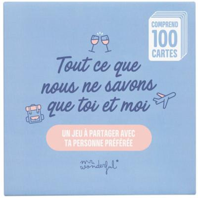 Jeu de Cartes 100 Questions Couple pour Toi et Moi Mr Wonderful