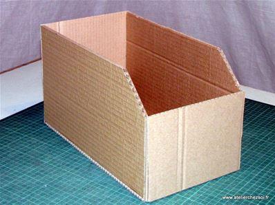 tuto casiers de rangement en carton fiche cr ative diy. Black Bedroom Furniture Sets. Home Design Ideas