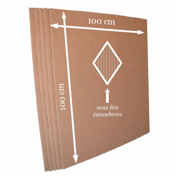 plaque carton ondul double cannelure 100 x 100 cm lot de 20 plaques de l 39 atelier chez soi. Black Bedroom Furniture Sets. Home Design Ideas