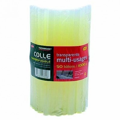 50 Bâtons colle thermofusible 1kg Ø12mm 20cm