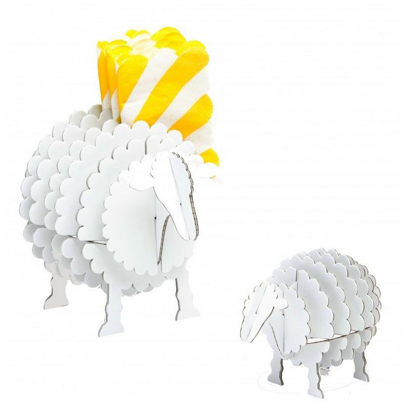 mini mouton en carton blanc taille xs cocorikraft de l 39 atelier chez soi. Black Bedroom Furniture Sets. Home Design Ideas