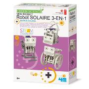 Kit scientifique Mini-Robot Solaire 3en1 à fabriquer 4M Green Science