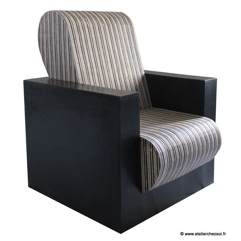 patron de meuble en carton fauteuil hadam adulte de l 39 atelier chez soi. Black Bedroom Furniture Sets. Home Design Ideas