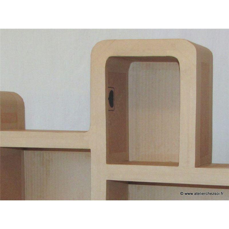 patron meuble en carton t te de lit haustin 1 personne de l 39 atelier chez soi. Black Bedroom Furniture Sets. Home Design Ideas
