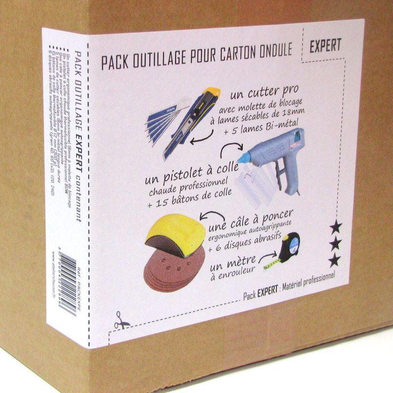 pack outillage expert pour carton ondul professionnel de l 39 atelier chez soi. Black Bedroom Furniture Sets. Home Design Ideas