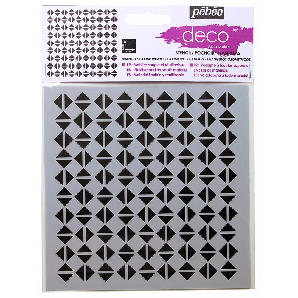 pochoir d co triangles 15x15cm p b o. Black Bedroom Furniture Sets. Home Design Ideas