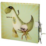 Journal intime Dinosaure vert Super-Dino 16x16cm