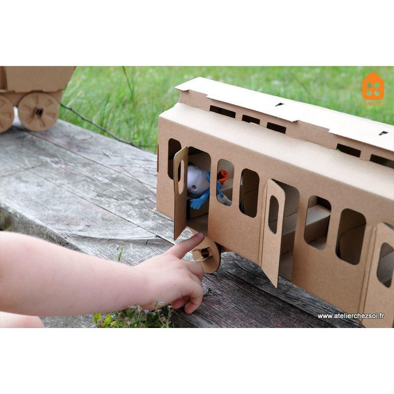 Exceptionnel Wagon en carton à construire Maquette Leolandia EV73