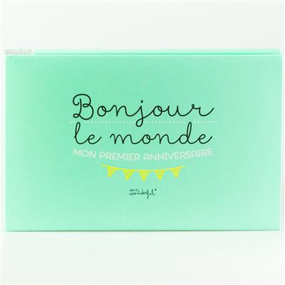 Album de Bébé Bonjour le monde Mr Wonderful