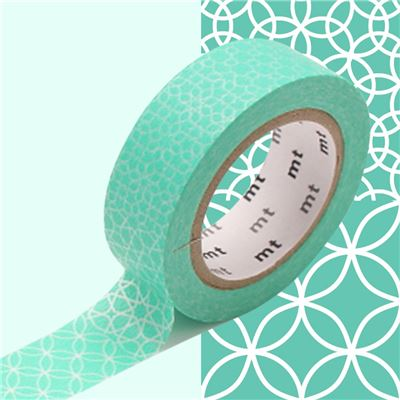 Masking Tape motif Traditionnel Lagon Rouleau 15mm x 10m