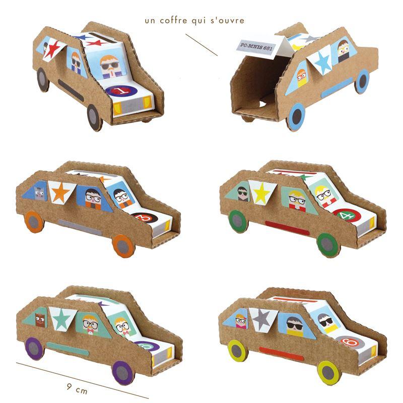 kit cr atif 6 voitures construire avec stickers. Black Bedroom Furniture Sets. Home Design Ideas