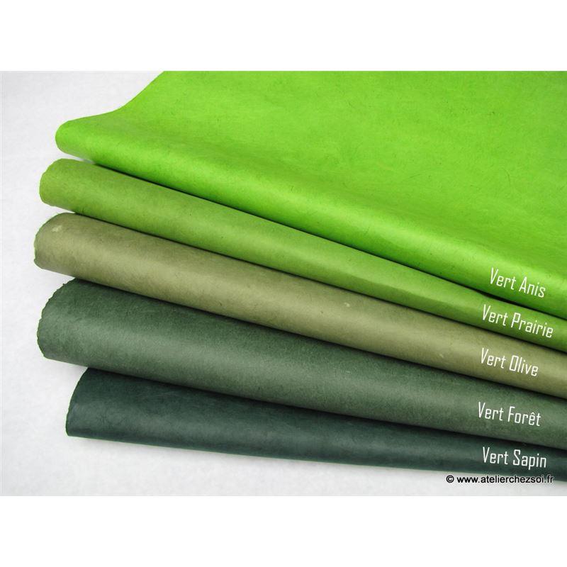 Papier n palais uni couleur vert olive 50x75 cm de l for Papier peint vert olive