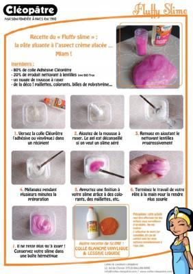 Guide fabriquer du slime pate gluante d stressante - Les bain de cleopatre ...