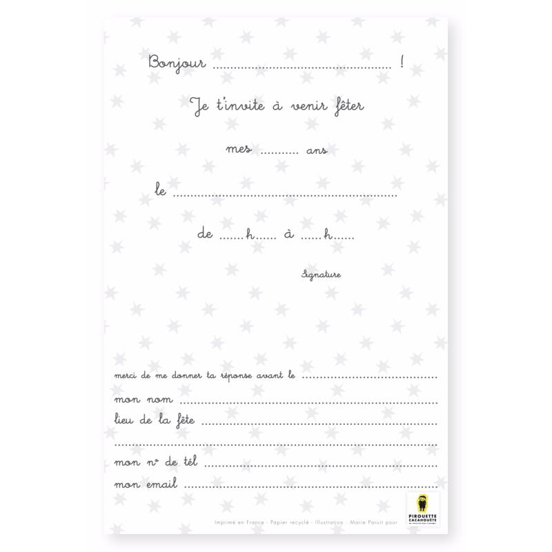 lot de 8 cartes d 39 invitation anniversaire joyeux lapin. Black Bedroom Furniture Sets. Home Design Ideas