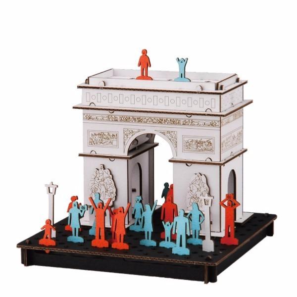 Mini Maquette Arc De Triomphe Paris 3d Pusu Pusu Hacomo